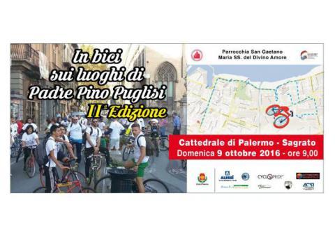 In bici sui luighi di Padre Pino Puglisi