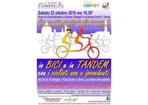 Pedalata in Bici e in Tandem a Firenze 22 ottobre 2016